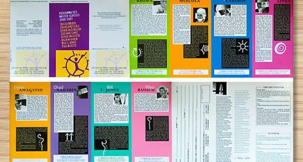 Programme des master class Carolyn Carlson créé par Franck Artaud