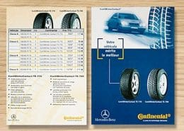 Franck Artaud a conçu ce flyer pour la marque continental